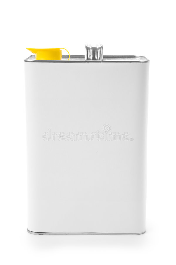Food oil can. With white background stock image