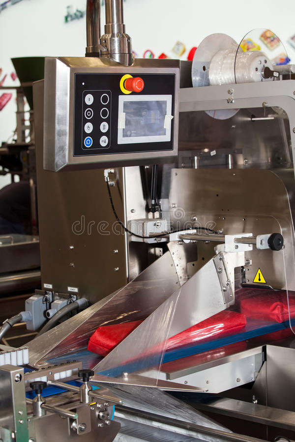 Download Food packaging machine stock image. Image of manufactory - 92265449