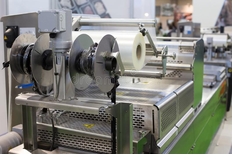 Food packaging machine stock image