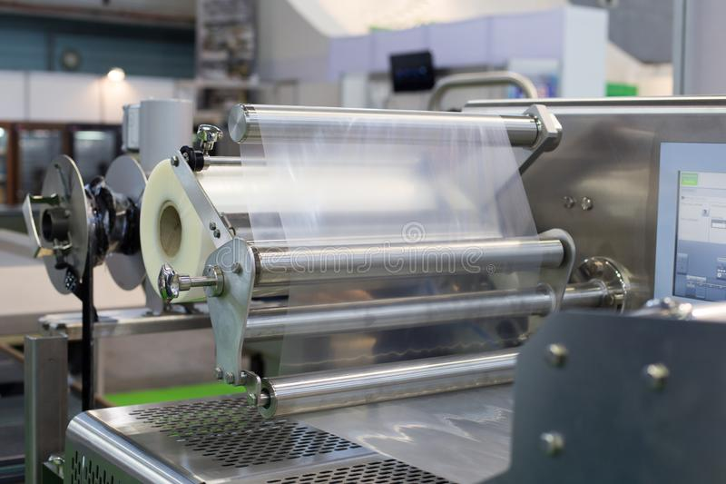 Food packaging machine stock photography