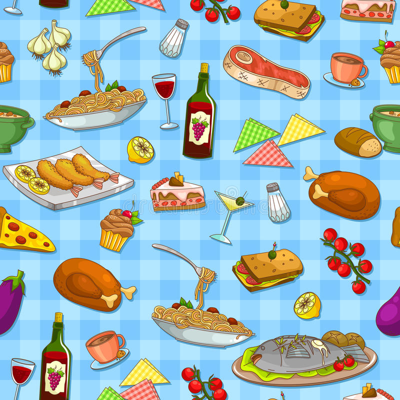 Download Food pattern stock vector. Image of image, checkered - 29149560