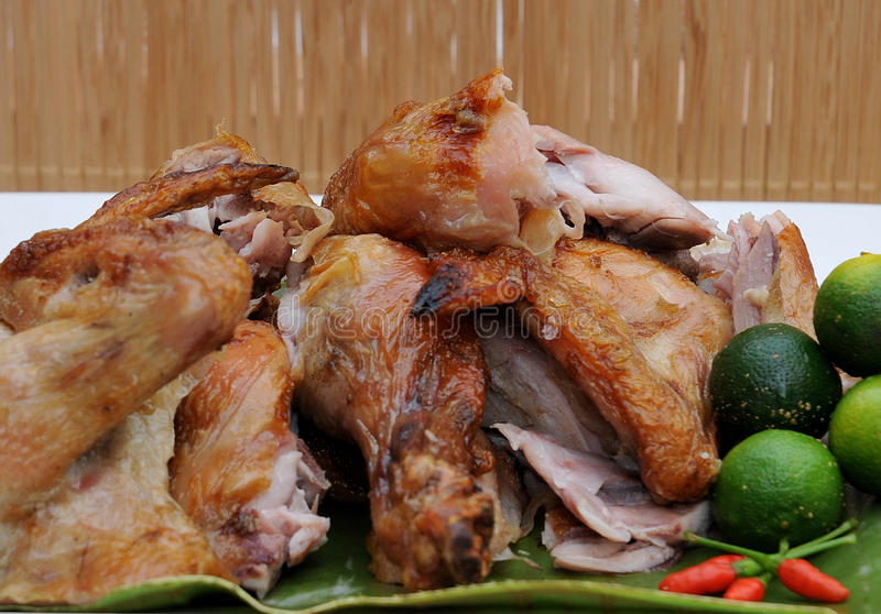 Food from the Philippines, Lechon Manok (Roasted Chicken) royalty free stock photos