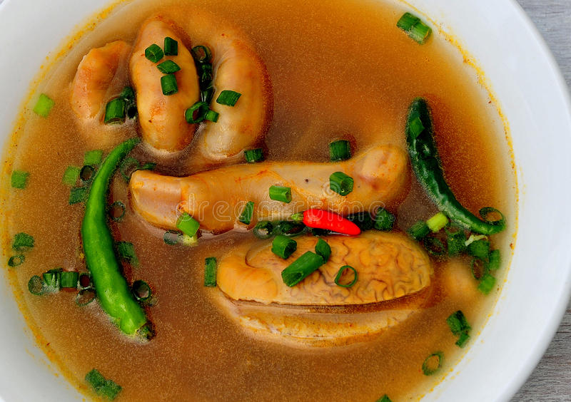 Food from the Philippines, Soup number 5,. Soup No. 5 (Bulls Penis Soup) This soup is made from Bull's testes and penis and is native to the Philippines stock photo