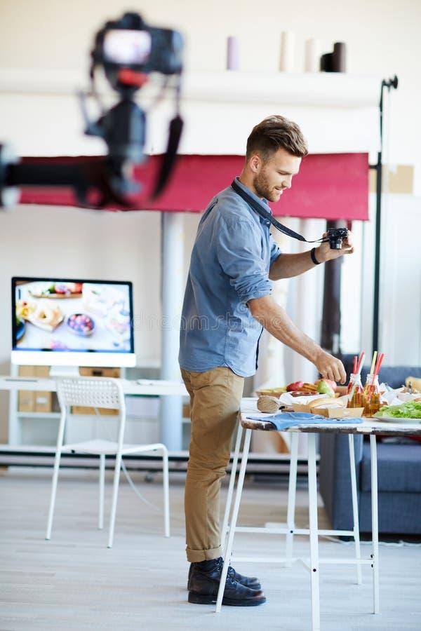 Food Photographer Working stock image