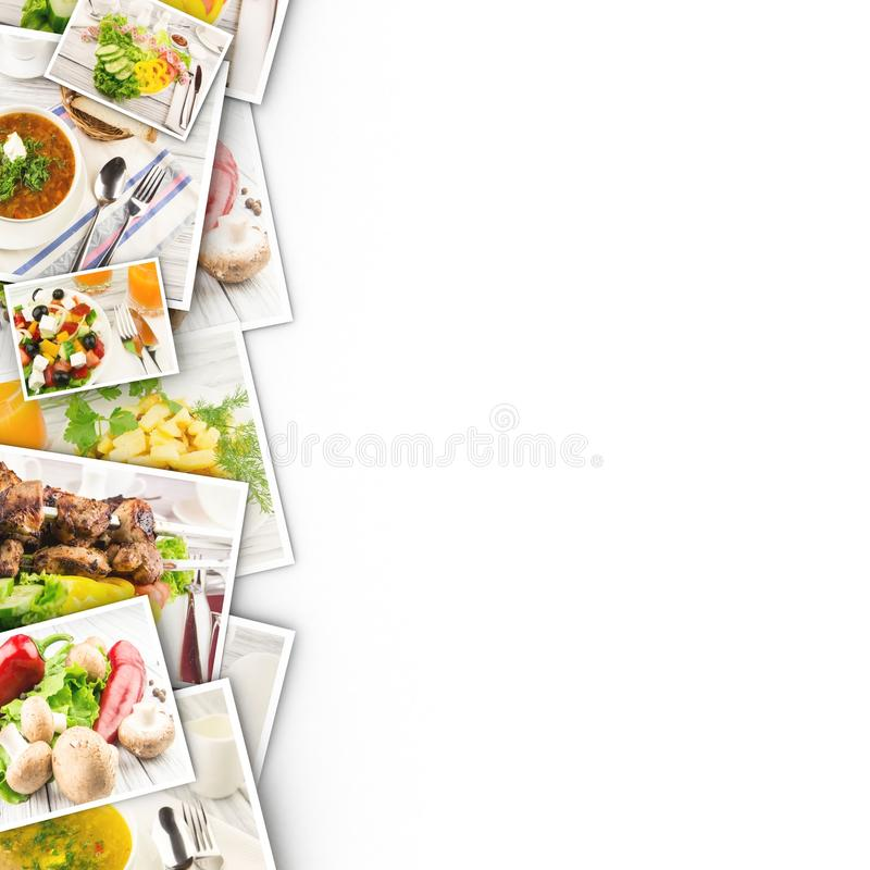 Food in photos on a white background. Photos are taken from my collection stock photo