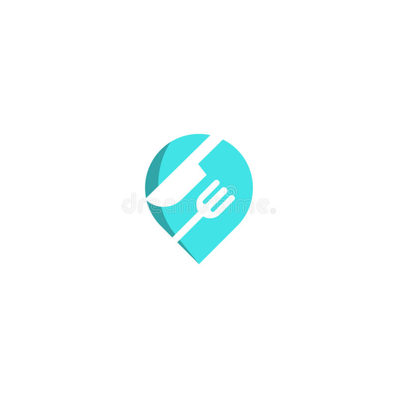 Food Pin Point Icon Logo Design Element. This design can be used as a logo, icon or as a complement to a design vector illustration