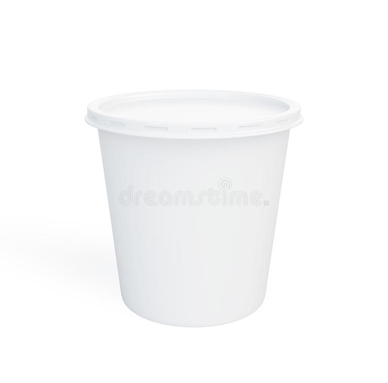 Download Food Plastic Container On A White Background Stock Illustration - Image: 30161951