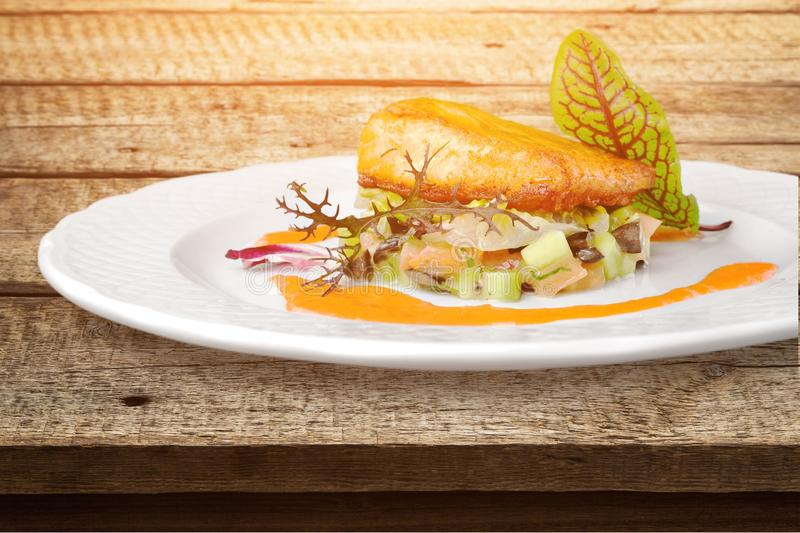 Food on plate royalty free stock image