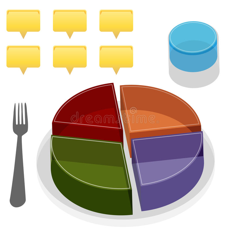 Food Plate Guide vector illustration