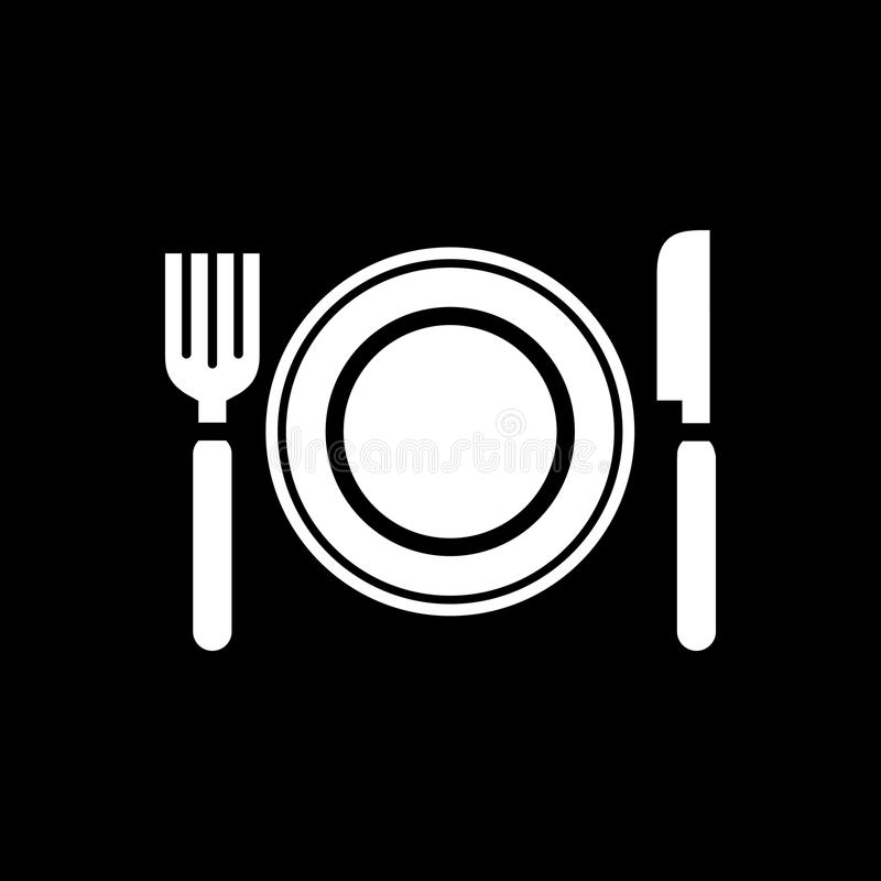 Food plate icon simple flat style vector illustration vector illustration