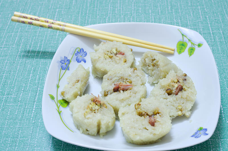 Food. A plate placed an rice dumplings royalty free stock photos