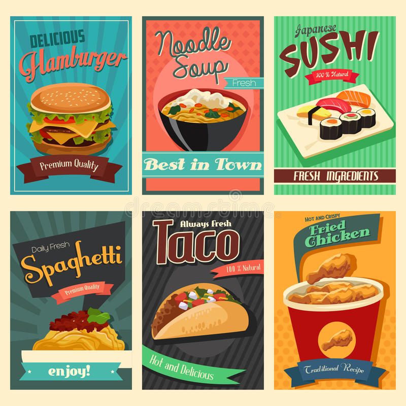 Food poster. A vector illustration of food poster stock illustration