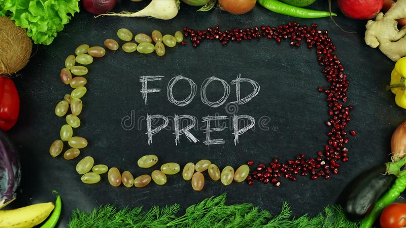 Food prep fruit stop motion royalty free stock photos