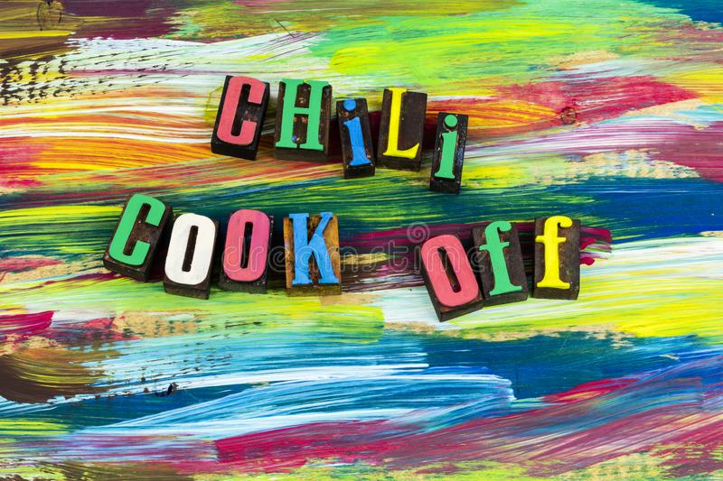 Chili cook off cooking food contest royalty free stock photography