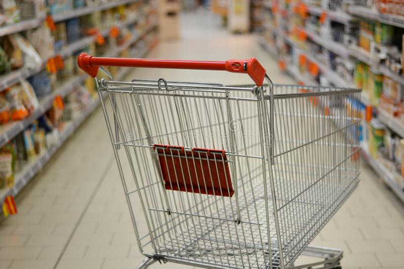 Food prices increasingly expensive, difficult to fill the shopping cart. Buying and selecting in the supermarkets of shopping malls, is now a habit of millions royalty free stock photography