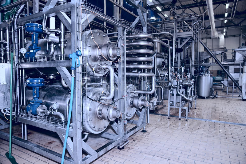 Food processing plant stock photo