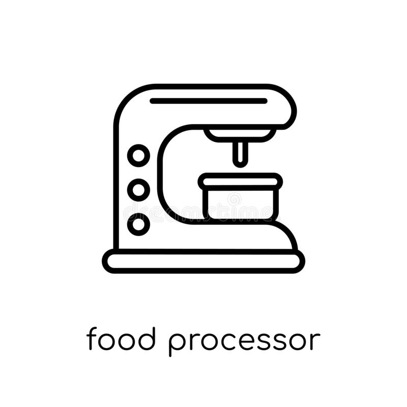 Food processor icon. Trendy modern flat linear vector food processor icon on white background from thin line Electronic devices c. Ollection, editable outline vector illustration