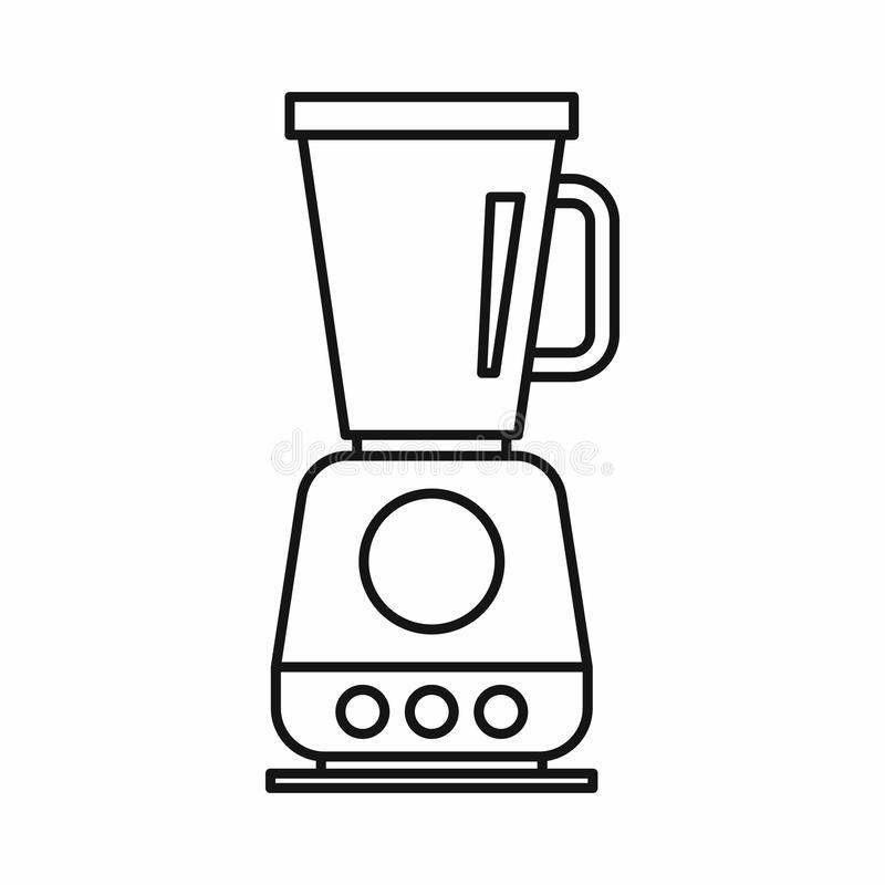 food processor  mixer  blender icon  outline style stock