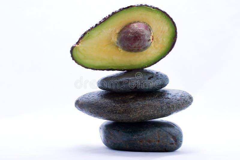 Food pyramid - avocado royalty free stock image