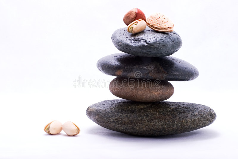 Food pyramid - nuts stock image