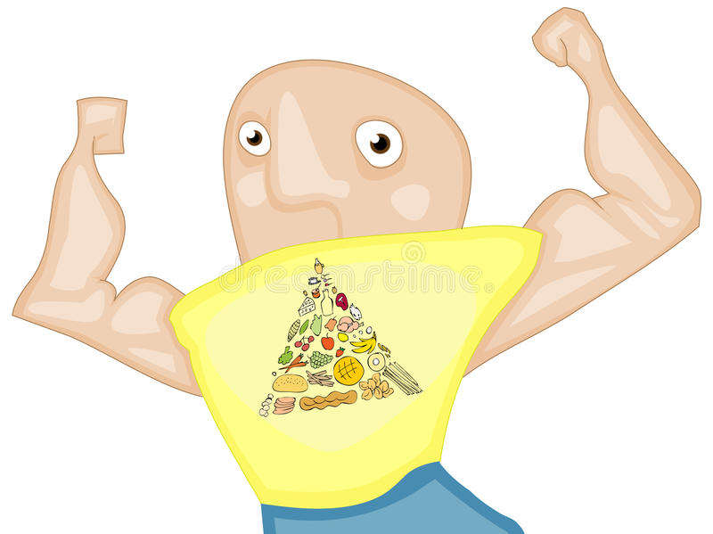 Food Pyramid Strength Royalty Free Stock Image