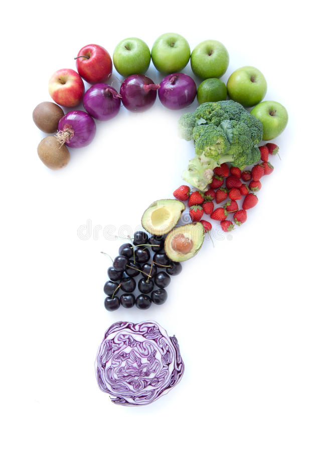 Food question mark royalty free stock images