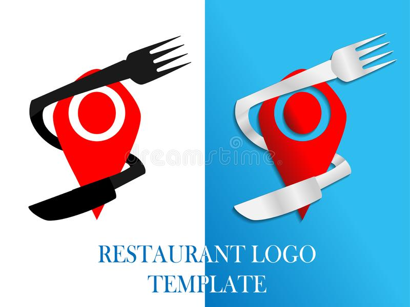 Food and Restaurant logo template. Eps10 vector template royalty free illustration
