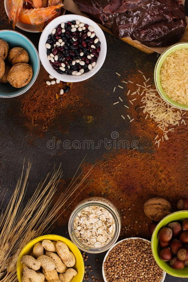 Food rich of copper mineral royalty free stock images