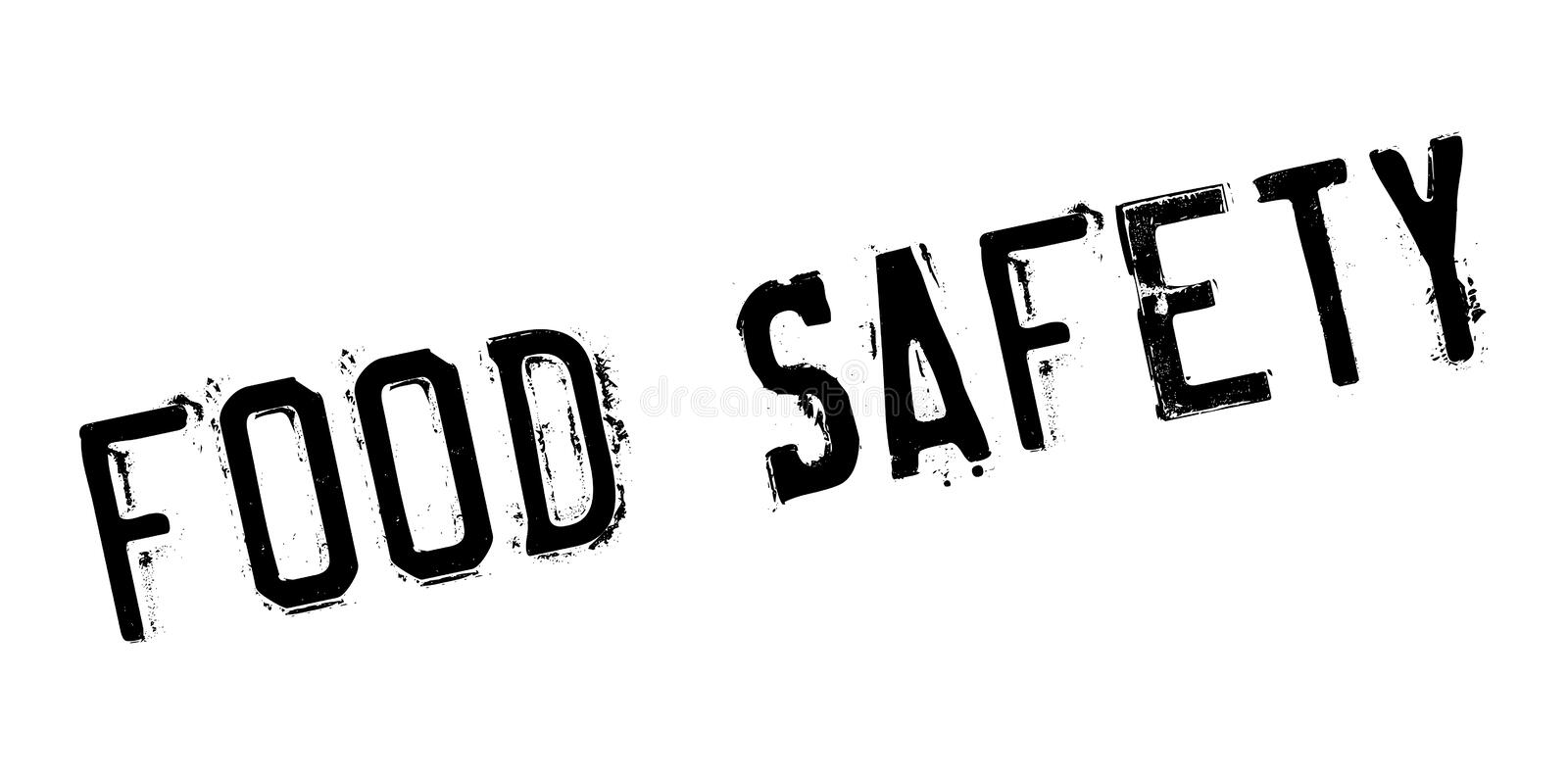 Food Safety rubber stamp royalty free illustration
