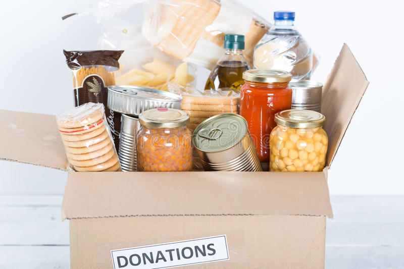 Food Safety. Supportive housing or food donation for poor stock image