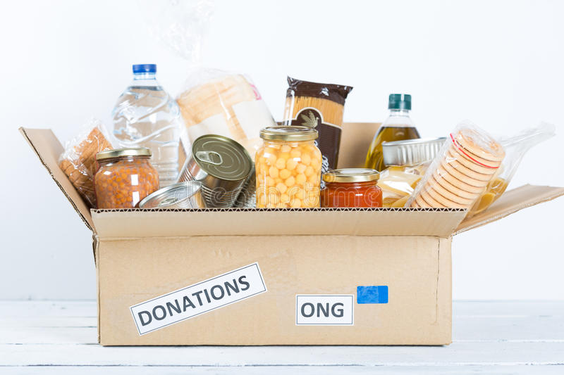 Food Safety. Supportive housing or food donation for poor stock photo