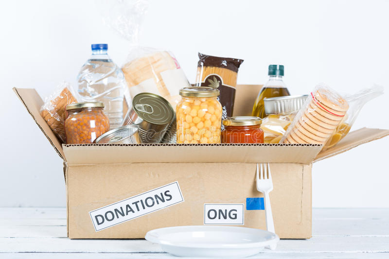 Food Safety. Supportive housing or food donation for poor stock images