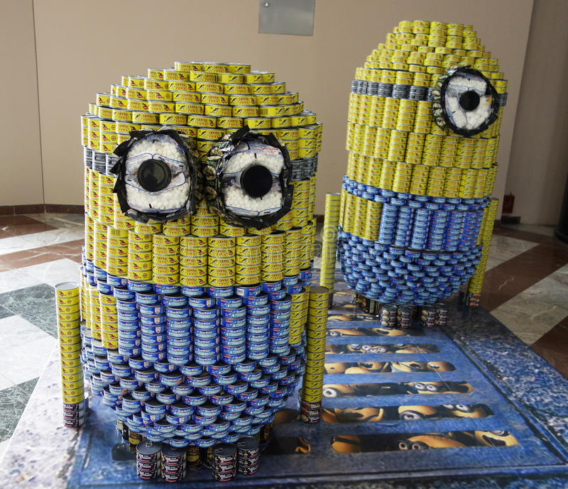 Food sculptures presented at 21st Annual NYC Canstruction competition in New York royalty free stock photos