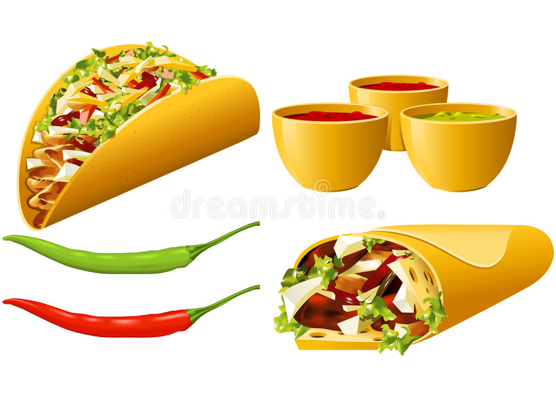Download Food series - Mexican stock vector. Illustration of meat - 6621846