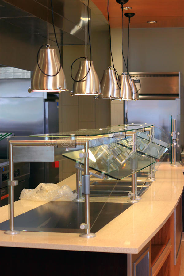 Cafeteria Food Counter stock images