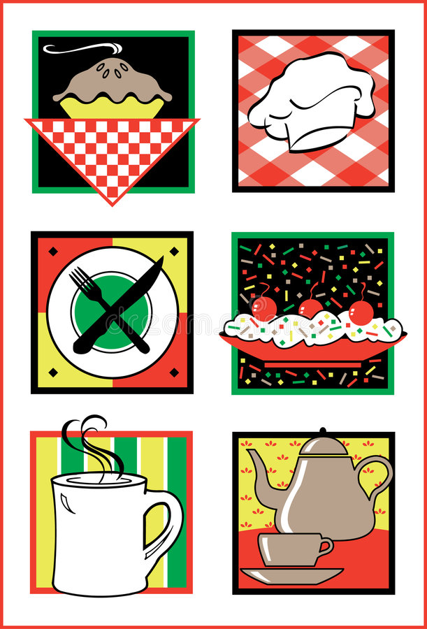 Free Food Service Icons/Logos Royalty Free Stock Images - 2373519