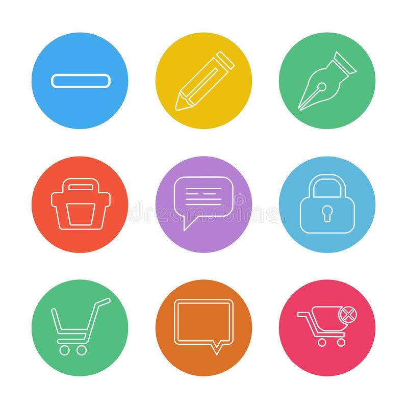 Food , shopping, health , healthy , eps icons set vector. Food , shopping, health , healthy , icon, vector, design, flat, collection, style, creative, icons royalty free illustration