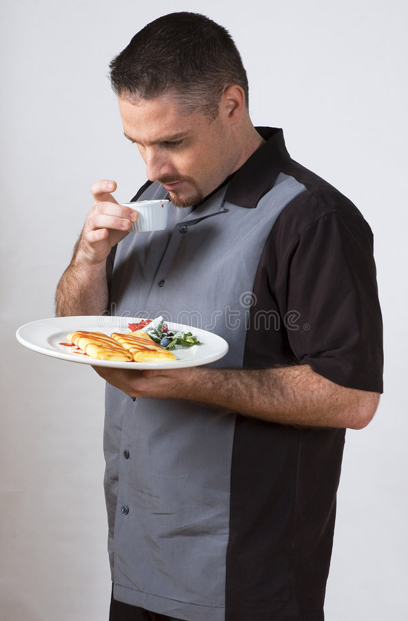 Food Sniffing Stock Image