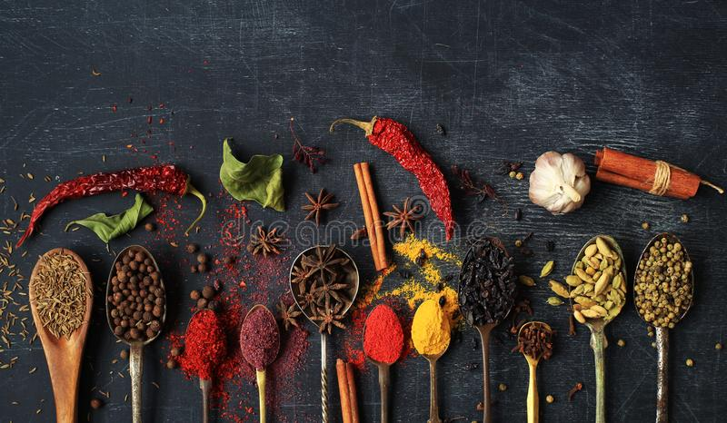 Food and spices royalty free stock image