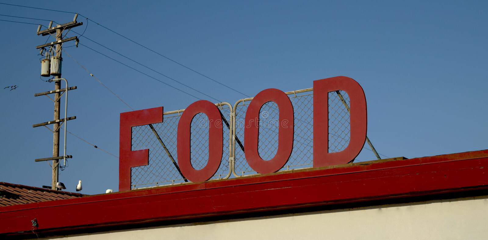 Food. Spotted this Food joint at the beach royalty free stock photo
