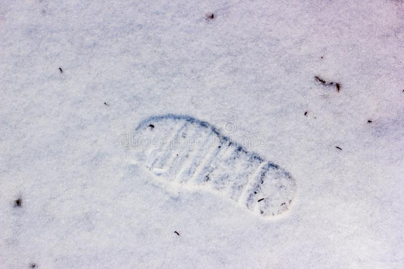 Food step on snow. Seasonal background and texture for design royalty free stock photo