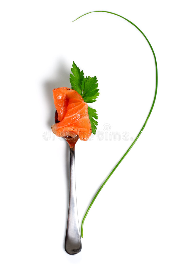 Food Still Life. Fish and Green stock photos