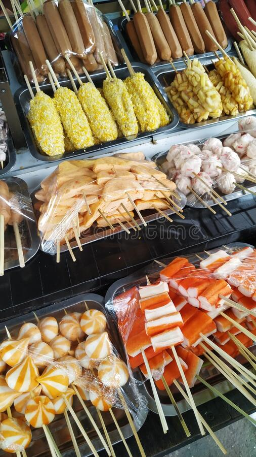 Food Street In Batu Malang Indonesia Stock Photo Image Of Sausages Indonesia 187588960