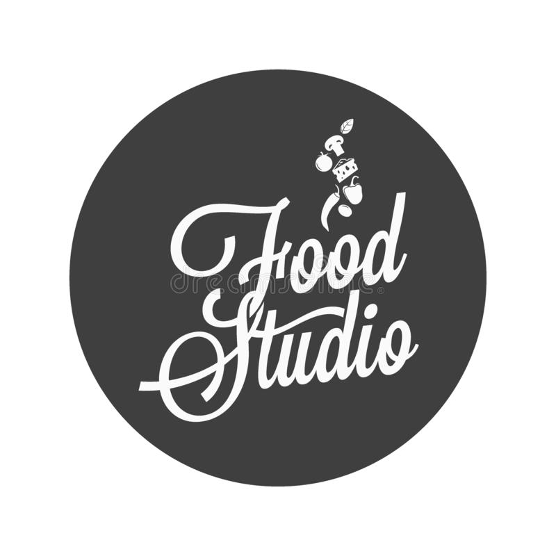 Food studio vintage avatar on white background vector illustration