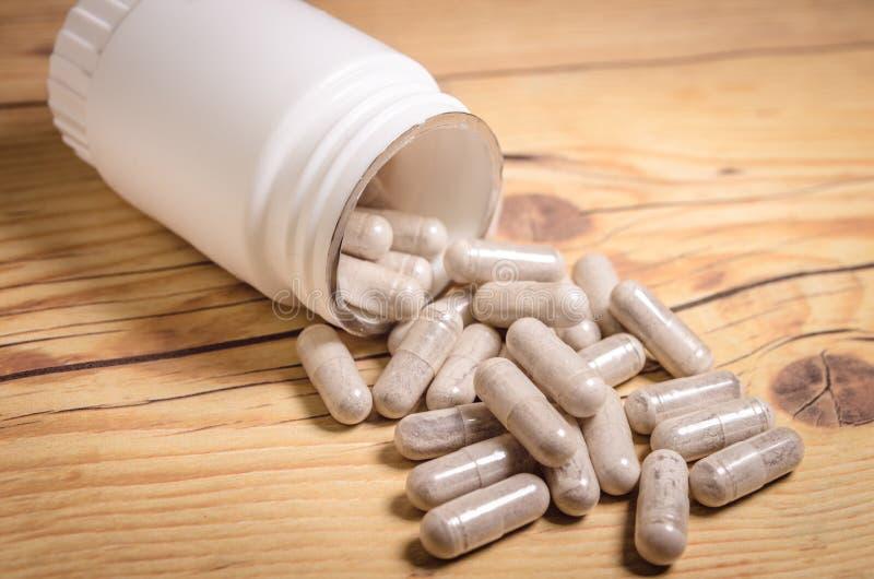 Food supplement capsules stock photo