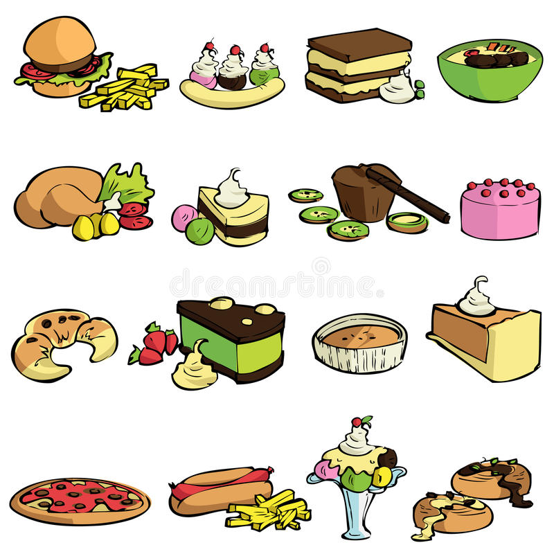 Food and sweet vector