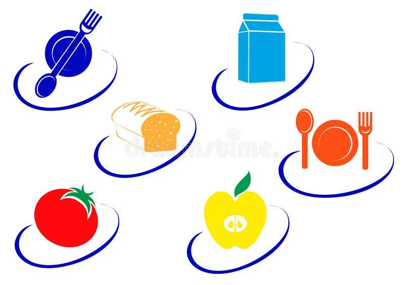 Food symbols royalty free stock images