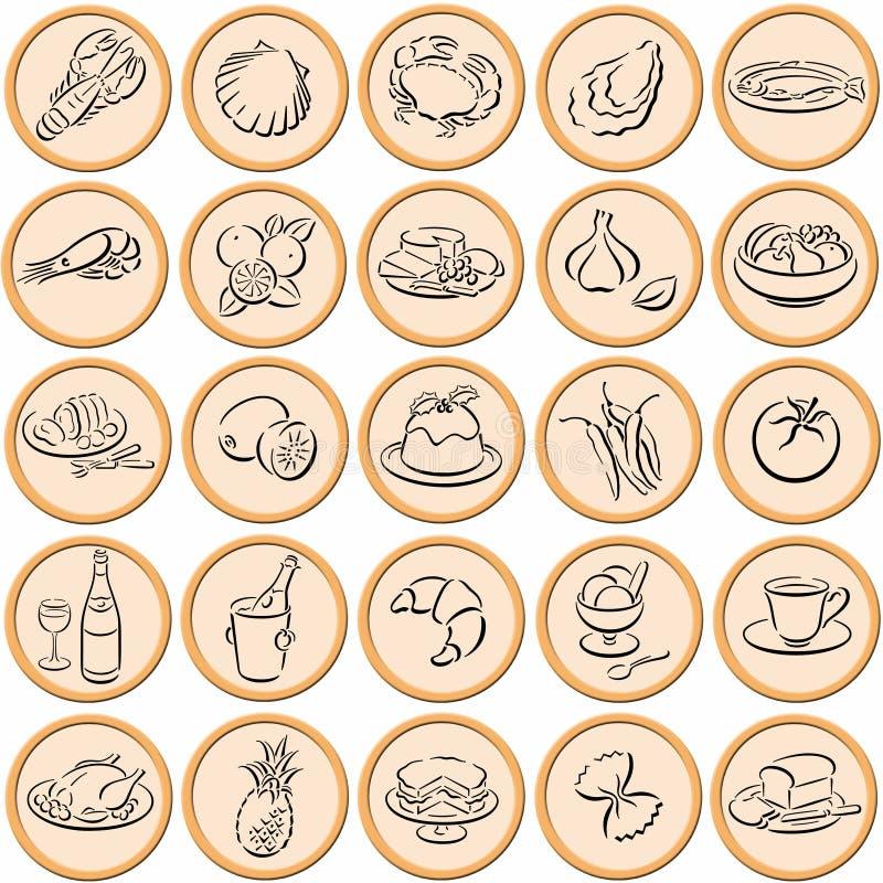 Food symbols stock image
