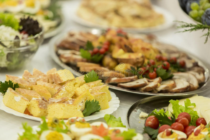 Food on the table. Various food on the table royalty free stock photography