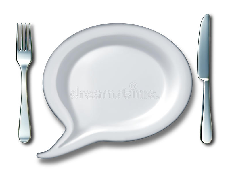 Food Talk stock illustration